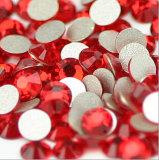 비 Ss20 샴 빨강 Hotfix 편평한 뒤 모조 다이아몬드 유리 구슬 (FB ss20 샴)