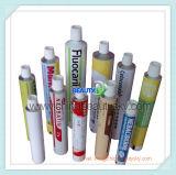 Tube en aluminium compressible de empaquetage médical ordinaire blanc de crème de main d'onguent d'oeil de soins de la peau