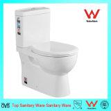 Het tweedelige Toilet van het Watercloset van de Waren van het Porselein Sanitaire Tweedelige Ceramische