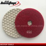 돌을%s 400# D100mm 다이아몬드 건조한 유연한 닦는 패드