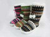 New Nice Warm Winter Snow Knitted Boots para meninas Wonmen
