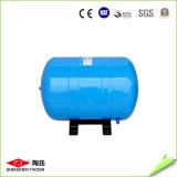 주문을 받아서 만들어진 파란 색깔 큰 수직 물 정화기 탱크