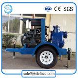 8 pulgadas bomba de residuos motor diesel con remolque