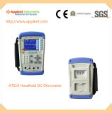 Ohmímetro de Digitas do medidor do ohm do verificador da resistência de contato baixo (AT518)