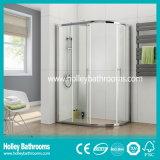 Portão deslizante de alumínio com vidro laminado temperado (SE901C)