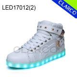 Cargadores del programa inicial ligeros de la zapatilla de deporte LED de los deportes de invierno de los adultos con la parte superior sintetizada