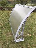 Tenda/baldacchino di alluminio curvi del policarbonato del braccio