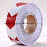 Nastro riflettente della freccia d'avvertimento bianca & rossa di alta qualità del PVC (C3500-AW)