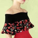 Sommer-Form WegSchulter Blumen-hübsches Dame-Kleid