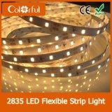 Luz de tira Cuttable quente do diodo emissor de luz de DC12V SMD2835