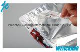 С герметичными застежками Zip блокировки подушки безопасности на одной стороне прозрачный пластиковый мешок молнии специально для ткани упаковка