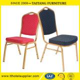 싸게 사용된 직물 Hotel&Banquet 다채로운 의자 쌓을수 있는 금속 대중음식점 가구