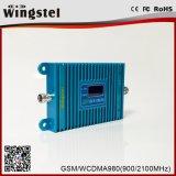2018 Nuevo repetidor de señal de Diseño para móviles de banda Dual/900/2100MHz 2G 3G Amplificador de señal con la antena