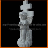 De Grafsteen van de engel voor Kerkhof met het Dwars Snijden mm1733
