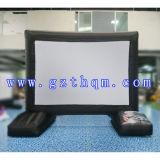 Используемый рекламой раздувной черный экран киноего/раздувная проекция экрана киноего для напольного случая
