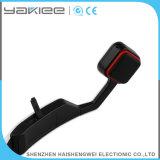 Auricular sin hilos blanco de Bluetooth del deporte de la conducción de hueso