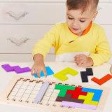 Au début de l'éducation Tangram en bois Jigsaw Puzzle de bloc jouet Tetris