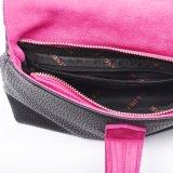 Черный PU с сумками муфты Tassel Rose красными кожаный, мешок картины Lichee женщин Elegent косметический, бумажники