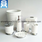 Горячие продажи новой модели белого керамического и металлического ванные комнаты аксессуары