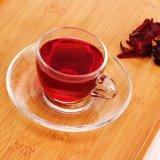 Tazza e piattino Gold-Plated, commercio all'ingrosso della tazza di tè e del piattino, tazza di tè di vetro e piattino