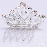 Crystal Rhinestone Kids Princess Birthday Party Girl Mulheres Gift Fashion Hair Pele Clip Crown Jewelry