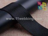 sangle en arête de poisson noire du polyester 1.5inch pour des accessoires de sac