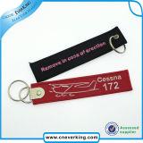 Высокое качество пользовательских вышивкой логотипа цепочки ключей