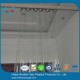 Acordión de la muestra libre plegable la cortina de la hoja del PVC del claro del vidrio verde