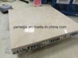 Panneaux crèmes en pierre de marbre de composé de nid d'abeilles de Marfil