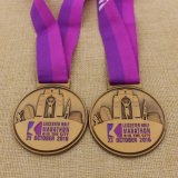 Medaille van Marthon van het Brons van het Metaal van de douane de Antieke met het Lint van de Douane