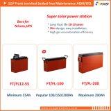 Vorderseite-Terminalbatterie 12V200ah des Hersteller-FT12-200 für Solarspeicherung