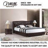 Самая последняя кровать кожи конструкции 2017 для комплекта спальни (FB3072)