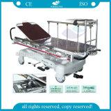 AG-HS005 con la carretilla del paciente del ensanchador del hospital de las barandillas de la Al-Aleación