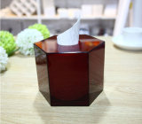Rectángulo de acrílico rojo del tejido del hexágono del estilo único