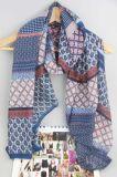 Sciarpa di Boho del poliestere di Pirnted per lo scialle delle signore dell'accessorio di modo delle donne