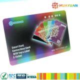 Cartão do megahertz ISO14443A RFID MIFARE DESFire EV1 2K do plástico 13.56