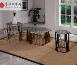 Schwarzer Stahlrahmen mit freiem ausgeglichenes Glas-Seiten-Tisch