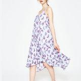 Moda Mujer Sexy Chifffon Imprimir ropa vestido de deslizamiento