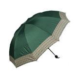 صامد للريح قوّيّة طلية أسود مظلة 3 طيّ