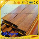 알루미늄 부속을%s 가진 베스트셀러 나무로 되는 곡물 편평한 관 알루미늄 단면도