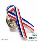 Kundenspezifisches Brustkrebs-Rosa-Farbband-Metallabzeichen (XD-MB-02)