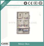 Caixa de medição de encapsulamento transparente Placa de distribuição pré-paga Caixa de circuitos monofásicos de IP43