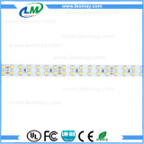 Luz de tiras flexível do diodo emissor de luz SMD3528 24VDC da fileira do dobro da lista do diodo emissor de luz