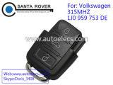 Télécommande 3 boutons à tête carrée 315MHz pour Volkswagen VW 1J0 959 753 de
