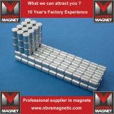 Sinterizado Terra Permanente N52 Poderoso NdFeB Neodymium Cylinder Magnet