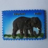 Magnete turistico del frigorifero dell'elefante indiano della resina poco costosa 3D di promozione