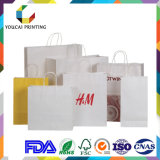 Sac à provisions bon marché de papier d'emballage avec le traitement de papier pour Suppermarket