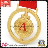 Première médaille en alliage de zinc de vente en métal de souvenir de l'or 3D de récompense