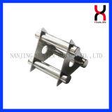 Blocco per grafici magnetico industriale permanente di figura rotonda dell'acciaio inossidabile