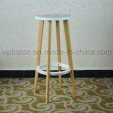 Alto taburete al por mayor del marco de madera con el asiento plástico de la silla (SP-EC617)